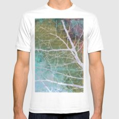 spring silk Mens Fitted Tee MEDIUM White