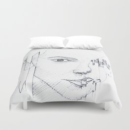 GLITCHING OUT Duvet Cover