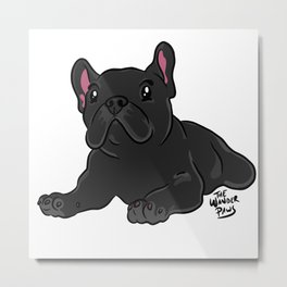 Chill Frenchie Metal Print