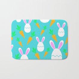 Happy Bunnies & Carrots   Easter Bunny   Easter Egg Bunny   pulps of wood Bath Mat