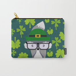 St. Patrick's Day decor with cute little fox Carry-All Pouch