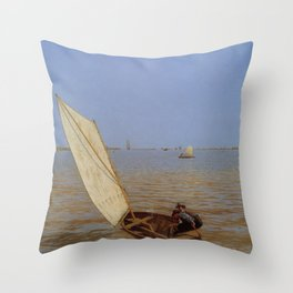 Thomas Eakins - Starting Out After Rail Throw Pillow