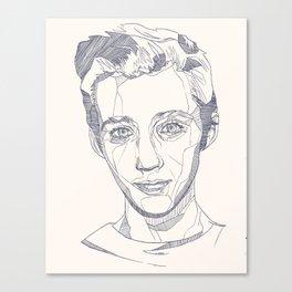 Troye Sivan Line Art  Canvas Print
