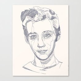 Troye Sivan Line Art  Canvas Print