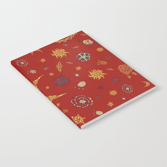 Christmas Space Pattern Notebook