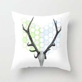 Stag Skull Throw Pillow