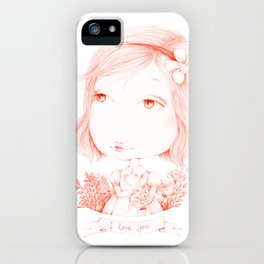 Monochrome Love: Red iPhone Case