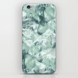 Marble Mist Green Grey iPhone Skin