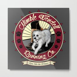 Nimble Wendell Running Co. (Contemporary Logo) Metal Print