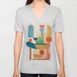 Modern Abstract Art 80 Unisex V-Neck