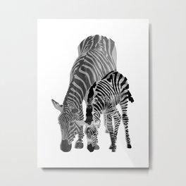 Striped Love (black and white) Metal Print