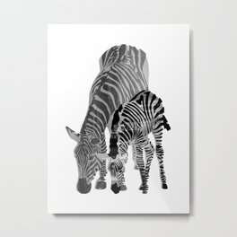 Striped Love (black and white) Metal Print