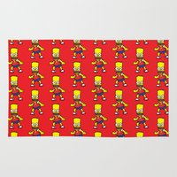 simpson Area & Throw Rugs featuring Bart Simpson by GOONS