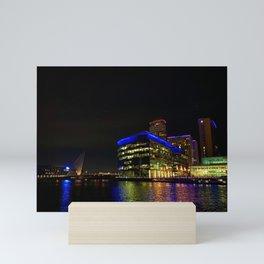 Manchester Salford Quays At Night Mini Art Print