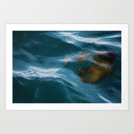 under sea jelly Art Print