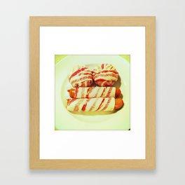 Burger, Bacon, Hot Dog Framed Art Print