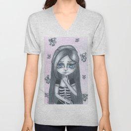 Cute Gothic Girl Sienna Unisex V-Neck