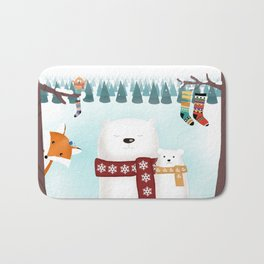 Christmas time Bath Mat