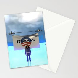 Fly:Oh yes he cares Stationery Cards