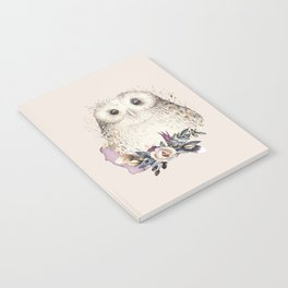 Boho Illustration- Be Wise Little Owl Notebook