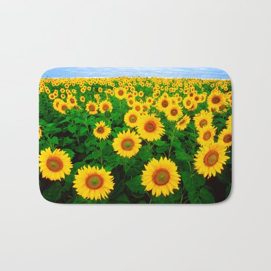 Sunflower art decoration ideas best design Bath Mat