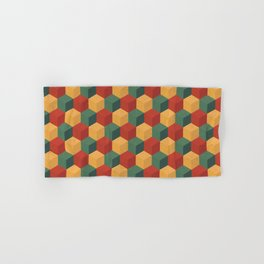 Retro Cubic Hand & Bath Towel