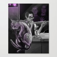 kevin russ Canvas Prints featuring Kevin?! by Justyna Rerak