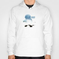 squirtle Hoodies featuring 007 squirtle by Hello Happy