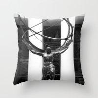 atlas Throw Pillows featuring Atlas by Jon Cain
