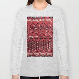 V22 Sheep herd Design Traditional Moroccan Carpet Texture. Long Sleeve T-shirt