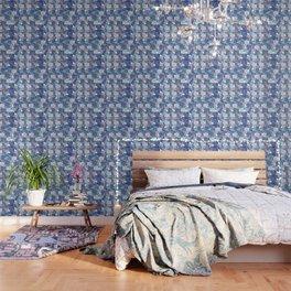 Blue Koi Ripples Wallpaper