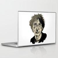 neil gaiman Laptop & iPad Skins featuring Neil Gaiman by Andy Christofi