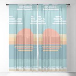 Bauhaus Sunrise Sheer Curtain