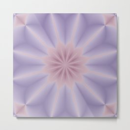 Pink and Lilac 3D Flower Three Metal Print