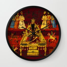 THE INDIAN KING Wall Clock