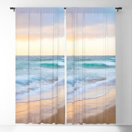 Monterey Beach Sunset Blackout Curtain