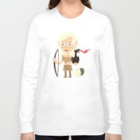 mother of dragons Long Sleeve T-shirts featuring Elven Mother of Dragons by Haragos