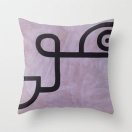 signo 11 negro Throw Pillow