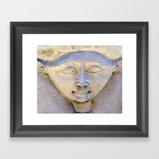 Dendera Carving 2 Framed Art Print