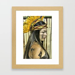 Natural beauty (no retouch) Framed Art Print