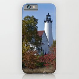 Pt Iroquois Lighthouse Fall iPhone Case
