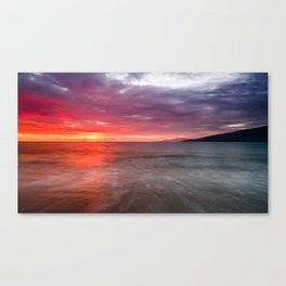 Kihei Sunset 2 Canvas Print