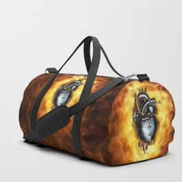 Heavy metal heart Duffle Bag