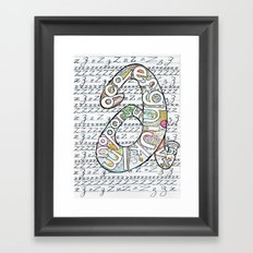 Simple ABC Framed Art Print