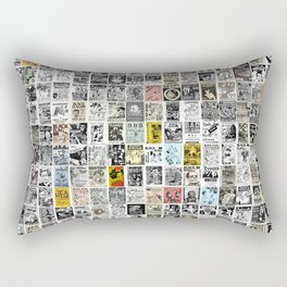 Punk Show Flyers Rectangular Pillow