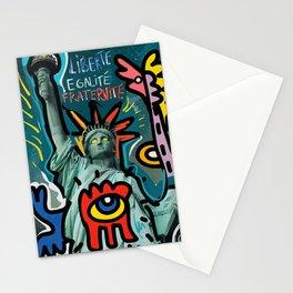 Liberté égalité fraternité Street Art French Graffiti Stationery Cards