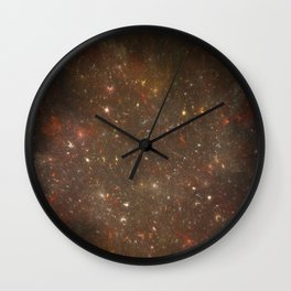 Rosette's Star Splattered Canvas Wall Clock