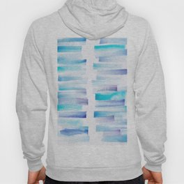 7 | 181101 Watercolour Palette Abstract Art | Lines | Stripes | Hoody