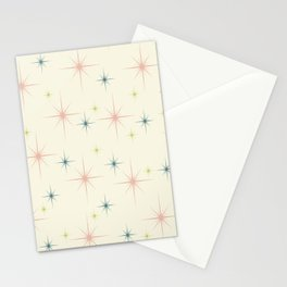 Mid Century Modern Stars Stationery Cards