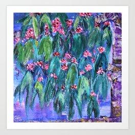 Rustic Flowering Gum Art Print